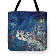 Rhapsody In Blue Tote Bag by Danielle  Perry