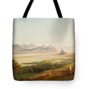 Rhenish Landscape With A View Of The Siebengebirge Tote Bag
