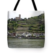 Rhine Castle And Terraced Vineyards Tote Bag