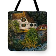 Rhine River Cottage Tote Bag