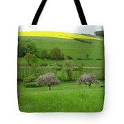 Rhineland-palatinate Summer Meadow With Cherry Trees Tote Bag