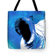 Rhino Animal Decorative Blue Poster 3 - By Diana Van Tote Bag