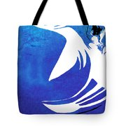 Rhino Animal Decorative Blue Poster 4 - By Diana Van Tote Bag