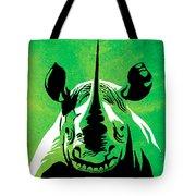 Rhino Animal Decorative Green Poster 5 - By Diana Van Tote Bag