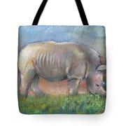 Rhino Tote Bag by Arline Wagner