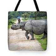 Rhino Crossing Tote Bag