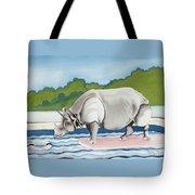 Rhino In La Tote Bag