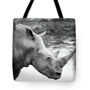 Rhino With Passengers Tote Bag