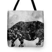 Rhinoceros-black Tote Bag