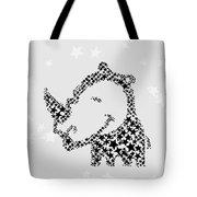 Rhinoceros Black Stars Tote Bag