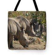 Rhinos,  Zambia Tote Bag
