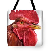 Rhode Island Red Rooster Isolated On White Tote Bag