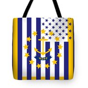 Rhode Island State Flag Graphic Usa Styling Tote Bag