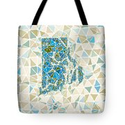 Rhode Island State Map Geometric Abstract Pattern Tote Bag