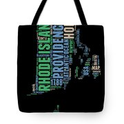 Rhode Island Word Cloud 2 Tote Bag
