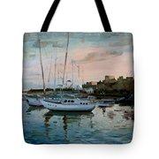 Rhodes Mandraki Harbour Tote Bag