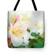 Rhodies Art Prints White Pink Rhododendrons Baslee Troutman Tote Bag