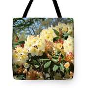 Rhodies Flowers Art Yellow Orange Rhododendrons Garden Tote Bag