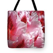 Rhodies Pink Fine Art Photography Rhododendrons Baslee Troutman Tote Bag