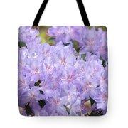 Rhododendron Floral Flowers Lavender Purple Prints Baslee Tote Bag