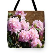 Rhododendron Flower Garden Art Prints Canvas Pink Rhodies Baslee Troutman Tote Bag
