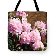 Rhododendron Garden Art Print Pink Rhodies Flowers Baslee Troutman Tote Bag
