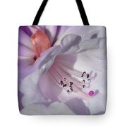 Rhododendron In White And Magenta Tote Bag
