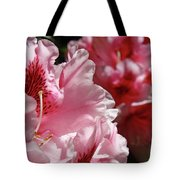 Rhododendrons Art Prints Floral Pink Rhodies Canvas Baslee Troutman Tote Bag