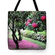 Rhododendrons Blooming Villa Carlotta Italy Tote Bag