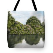 Rhododendrons By The River Tote Bag