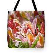 Rhododendrons Floral Art Prints Canvas Pink Orange Rhodies Baslee Troutman Tote Bag