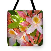 Rhododendrons Garden Floral Art Print Pink Rhodies Tote Bag