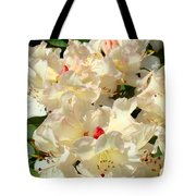 Rhododenrons Floral Art Prints Yellow Pink Rhodies Baslee Troutman Tote Bag