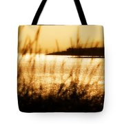 Rhos Point Viewed Through Beach Grass Tote Bag