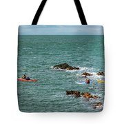 Rhoscolyn Rock Panorama Tote Bag