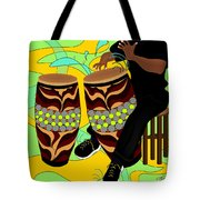 Rhythm Of The Drums Tote Bag