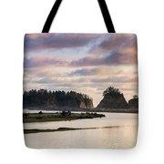 Rialto Beach Sunset On The Pacific Coast In Washington Tote Bag
