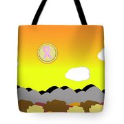Ribbon Over Mountains Tote Bag