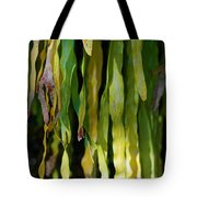Ribbons Of Green Tote Bag