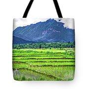 Rice Paddies And Mountains Tote Bag