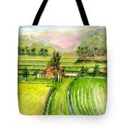Ricefield Panorama Tote Bag