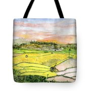 Ricefield Terrace Tote Bag