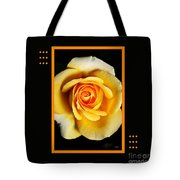 Rich And Dreamy Yellow Rose  With Design Tote Bag