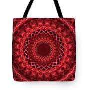 Rich Red Mandala Tote Bag