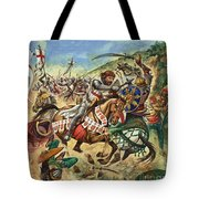 Richard The Lionheart During The Crusades Tote Bag by Peter Jackson