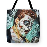Richie Valens Day Of The Dead Tote Bag