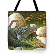 Richly Hued Colorado Gator On The Rocks 2 10282017 Tote Bag