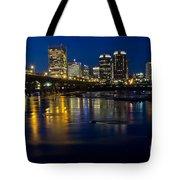 Richmond Night Skyline Tote Bag