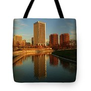Richmond Skyline And Canal Tote Bag