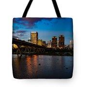 Richmond Skyline At Night Tote Bag
